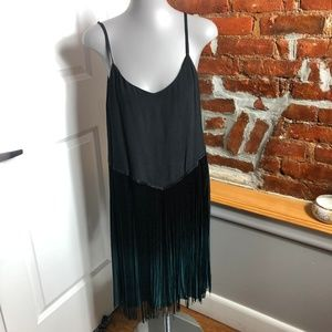 Lord and Taylor Fringed Ombre Dress Size M